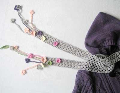 شال گردن های قلاب بافی