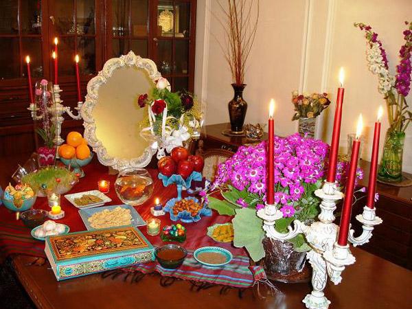 تزیین سفره هفت سین با مینای اصفهان تزیینات عید 97 سری اول