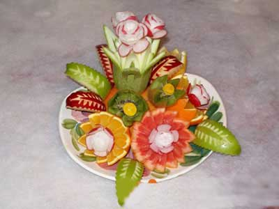 تزئین میوه برای شب یلدا همراه با توضیح