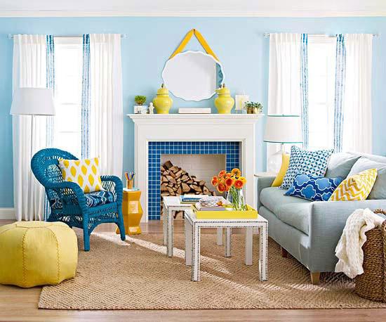 مدل دکوراسیون داخلی با رنگ آبی, مدل دکوراسیون داخلی, دکوراسیون داخلی با رنگ آبی