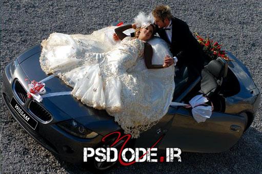 عکس عروس و داماد در آتلیه فیگور عروس داماد