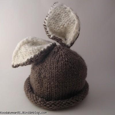 آموزش یقه خرگوشی بافت کلاه خرگوشی