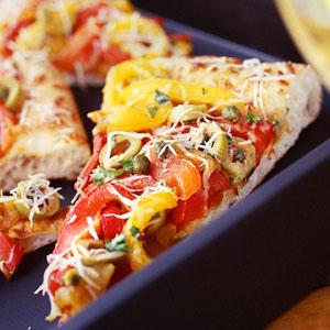 پیتزا فلفل دلمه ای,طرز تهیه پیتزا فلفل دلمه ای