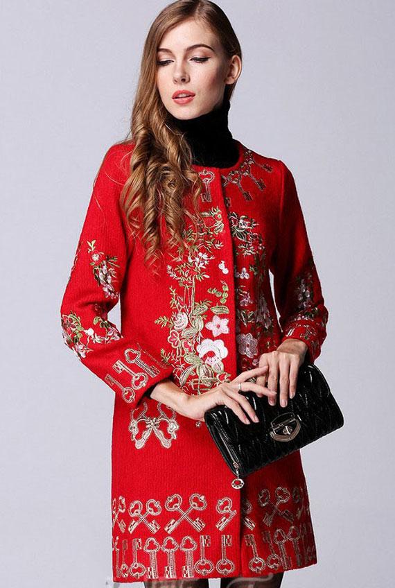 مانتو سنتی اصفهان مدل مانتو های گلدوزی شده
