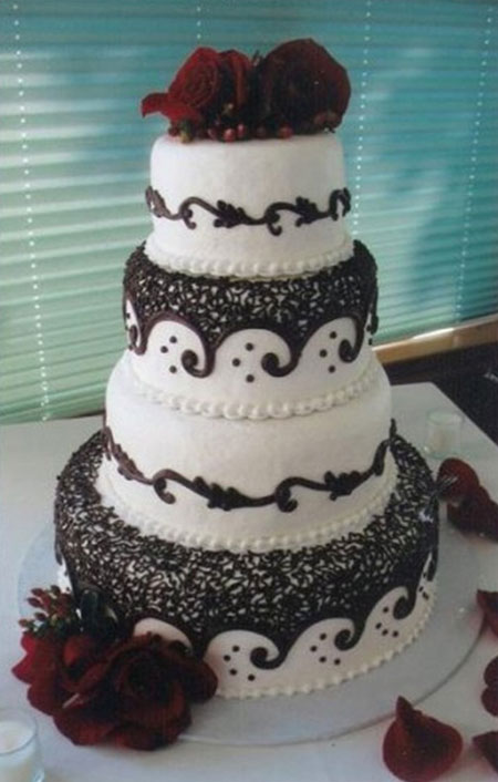 مدل کیک برای عروسی,کیک چند طبقه عروسی