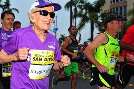 پیرزن 92 ساله در «ماراتن» رکورد زد