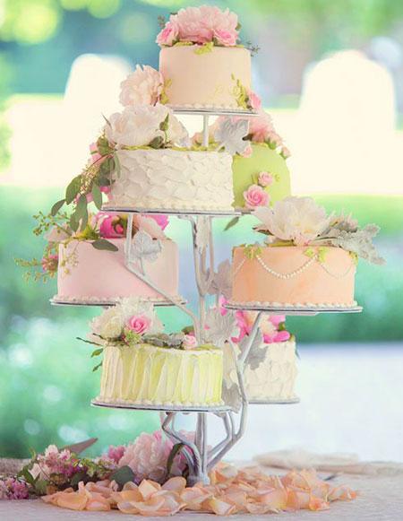 تزیین کیک عروسی با گل های طبیعی, مدل های تزیین کیک عروسی با گل های طبیعی