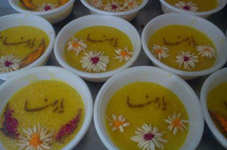 تزیین شله زرد در ماه رمضان,نمونه های تزیین شله زرد