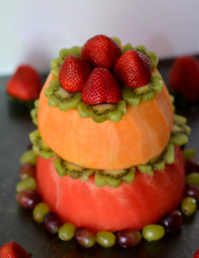 آموزش تهیه کیک تولد میوه ای,درست کردن کیک میوه ای