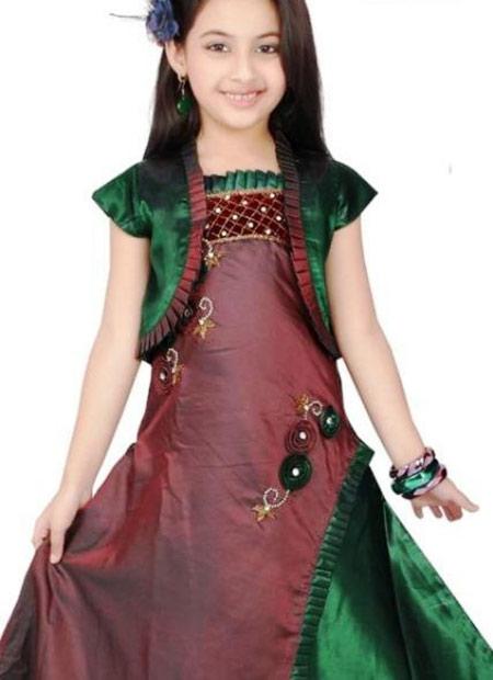 مدل پیراهن لب دریا مدل لباس دختربچه های هندی