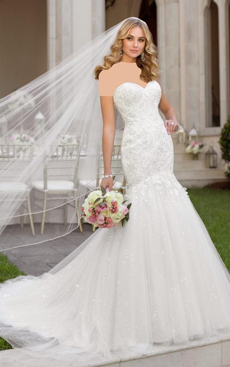 مدل لباس عروس نباتی, مدل پیراهن عروس دکلته