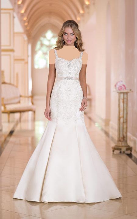 لباس عروس های گیپوری, لباس عروس آستین کوتاه