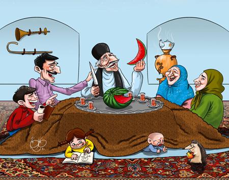عکس های خنده دار,کاریکاتور جدید شب یلدا