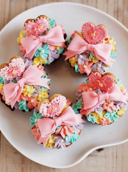 کاپ کیک ولنتاین,تزیین کاپ کیک ولنتاین
