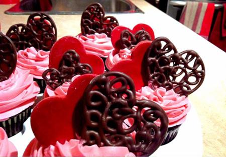 تزیین کاپ کیک,کاپ کیک روز ولنتاین