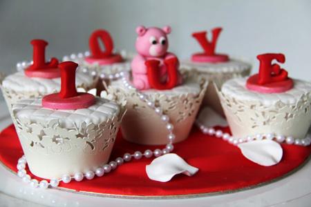 پخت کاپ کیک ولنتاین, نحوه تزیین کاپ کیک ولنتاین