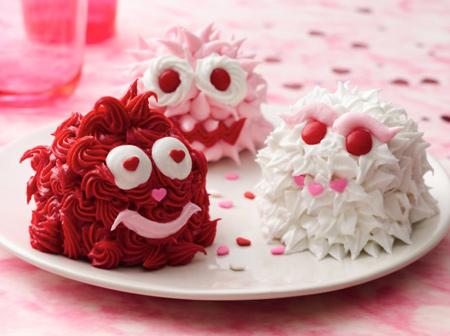 تزیین کاپ کیک ولنتاین, تزیین کاپ کیک روز ولنتاین