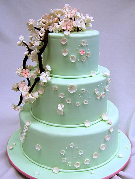 تزیین کیک های عقد و عروسی,کیک عروسی به رنگ سال ۲۰۱۶