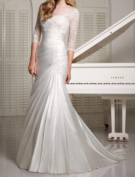 شیک ترین لباس عروس های آستین دار, لباس عروس
