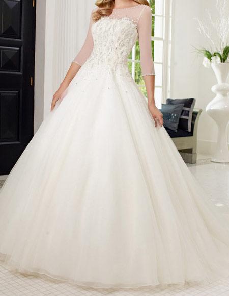لباس عروس آستین دار, شیک ترین لباس عروس های آستین دار