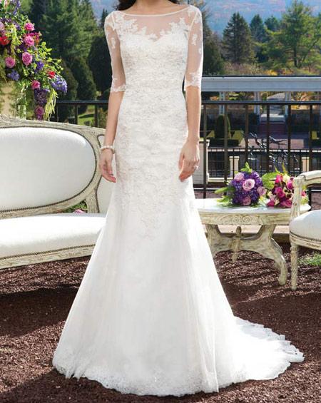 لباس عروس ساده, مدل لباس عروس نباتی