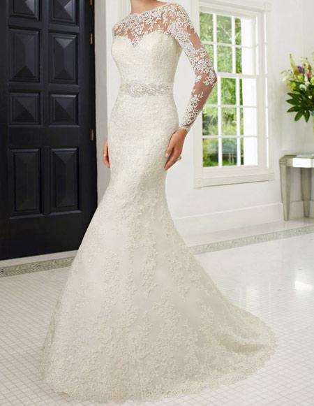 لباس عروس آستین دار,لباس عروس های گیپوری