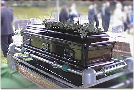 مراسم خاکسپاری, آئین های مراسم خاکسپاری،تابوت