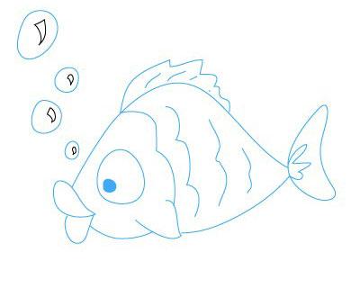 طرز کشیدن نقاشی ماهی,آموزش نقاشی