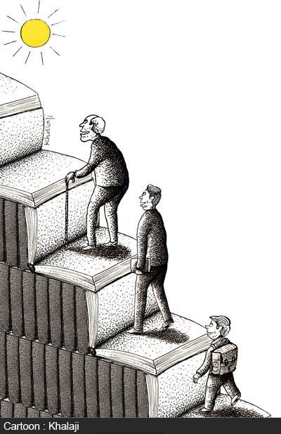 کاریکاتور مفهومی کتاب, کاریکاتور در مورد کتابی