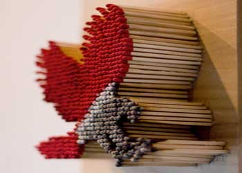 هنرنمایی با چوب کبریت (عکس)